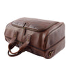 Genuine Leather Travel Holdall Overnight Bag HL015 Brown 4