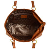Womens Leather Classic Shopper Fashion Bag Sadie Tan inside