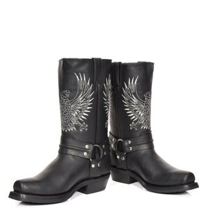 leather western style boots