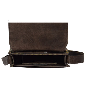 mens leather bag with an inside zip pocket