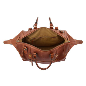 Luxury Leather Travel Holdall Duffle Coleford Tan 6