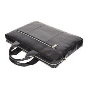 black soft leather satchel