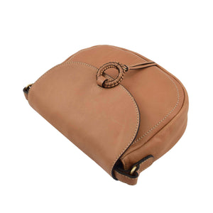 Womens Soft Leather Small Cross Body Bag Hannah Tan 4