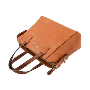 Womens Leather Small Tote Cross Body Bag Elsie Tan 5