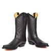 western style leather boots in black