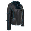 Womens Sheepskin Aviator Pilot Jacket Valerie Black Green 5