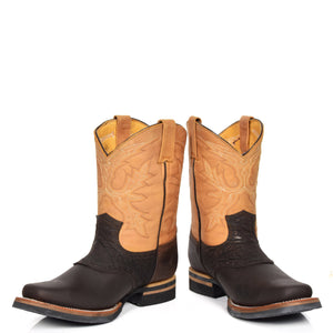 western style leather boot