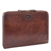Real Leather Portfolio Case A4 Document Holder Cookbury Brown 2