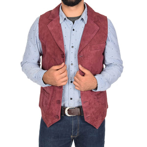 button fastening waistcoat for men