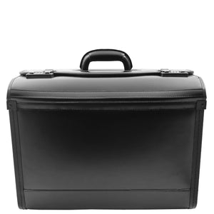 Leather Doctors Pilot Case Without Wheels Beesands Black 1