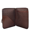 Real Leather Portfolio Case A4 Document Holder Cookbury Brown 4