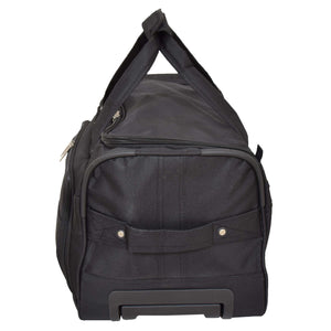 Lightweight Mid Size Holdall with Wheels HL452 Black 5