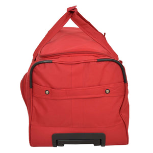 Lightweight Large Size Holdall with Wheels HL472 Red 5