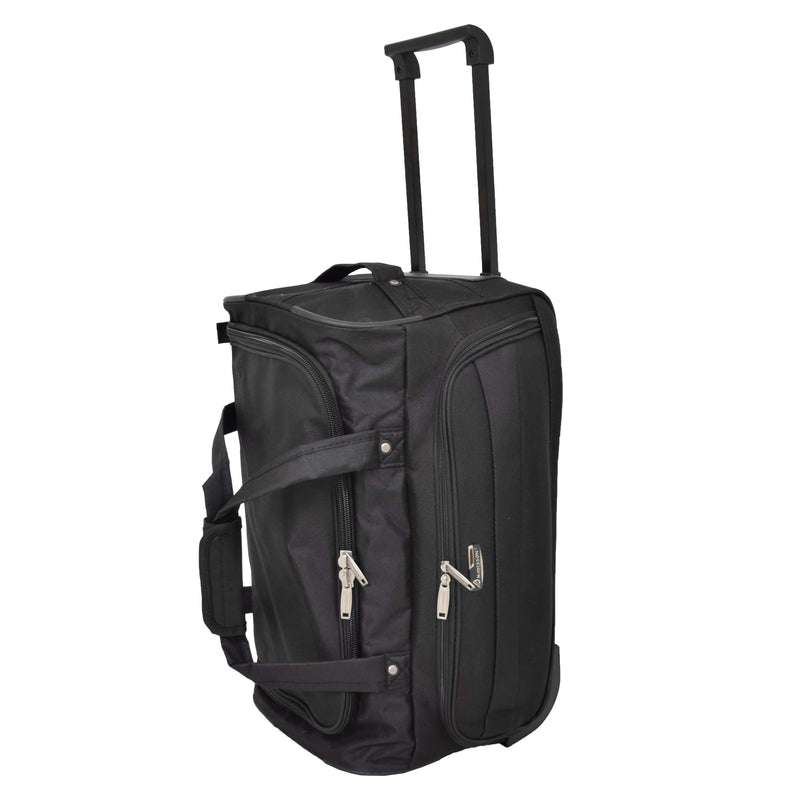 Lightweight Mid Size Holdall with Wheels HL452 Black 6