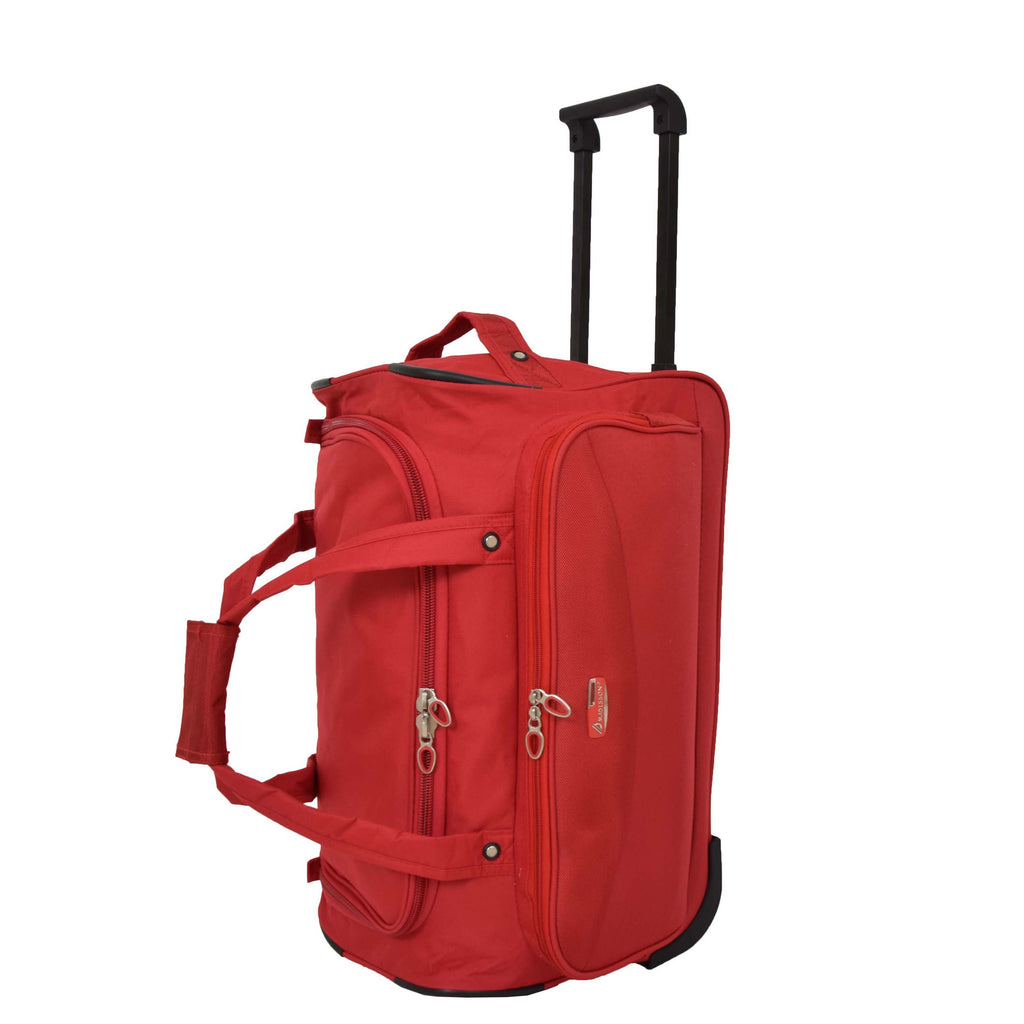 Lightweight Mid Size Holdall with Wheels HL452 Red