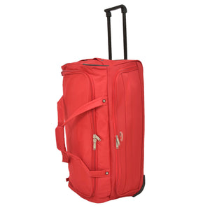 Lightweight Large Size Holdall with Wheels HL472 Red