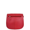 Womens Leather Saddle Shape Cross Body Bag Sadie Red 1