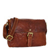 Womens Leather Classic Cross Body Shoulder Bag Hazel Cognac