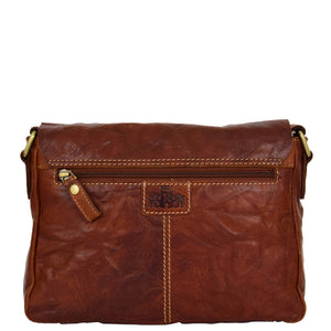 Womens Leather Classic Cross Body Shoulder Bag Hazel Cognac 1