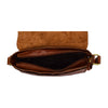 Womens Leather Classic Cross Body Shoulder Bag Hazel Cognac 4