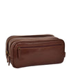 leather toiletries bag