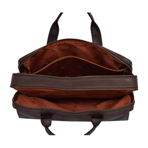 leather bag for mens with multiple inner storage