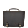 mens leather briefcase with a detachable shoulder strap