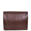 Mens Leather Cross Body Satchel Bag Hector Brown front