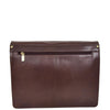 Mens Leather Cross Body Satchel Bag Hector Brown back