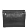 Mens Leather Cross Body Satchel Bag Hector Black back