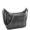 Womens Leather Cross Body Messenger Bag HOL004 Black