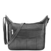 Womens Leather Cross Body Messenger Bag HOL004 Black 2