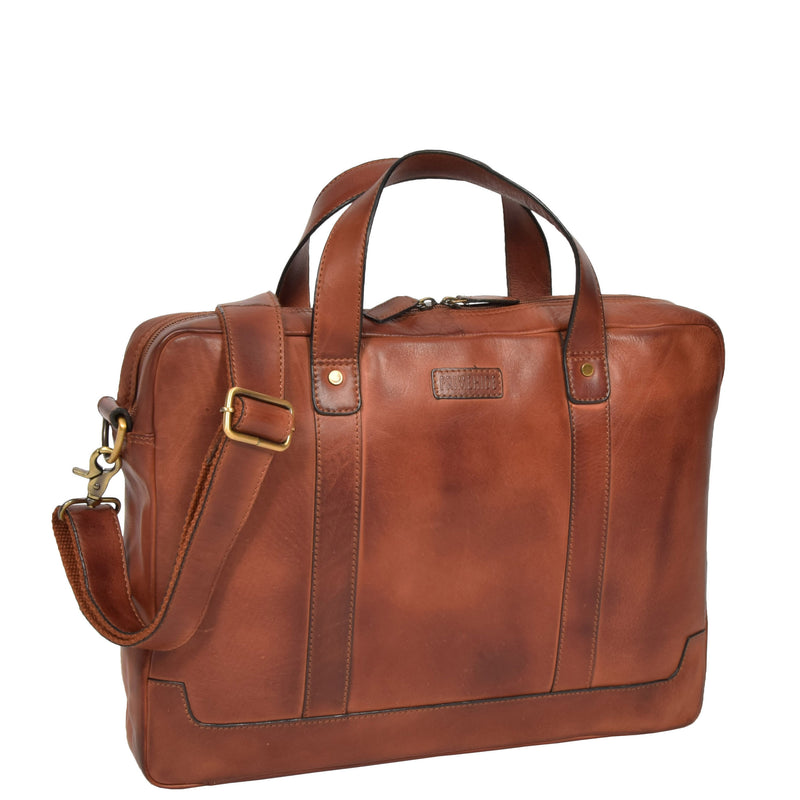 leather bag with laptop section