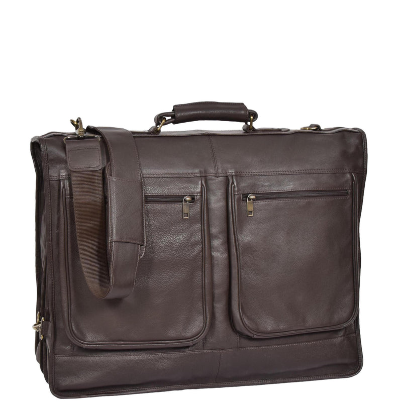 real leather suiter bag
