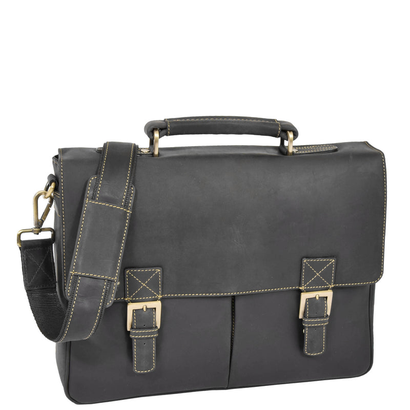 medium size leather briefcase