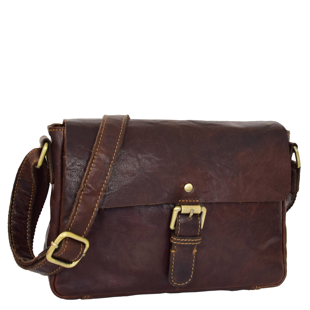 Womens Classic Cross Body Shoulder Bag Hazel Brown