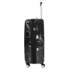 Four Wheels Spinner Suitcase Marble Print Black 2