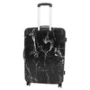 Four Wheels Spinner Suitcase Marble Print Black 3
