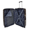 Four Wheels Spinner Suitcase Marble Print Black 4