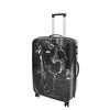 Four Wheels Spinner Suitcase Marble Print Black 5