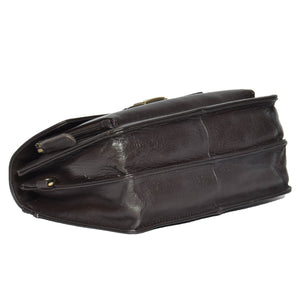 medium size brown leather pouch