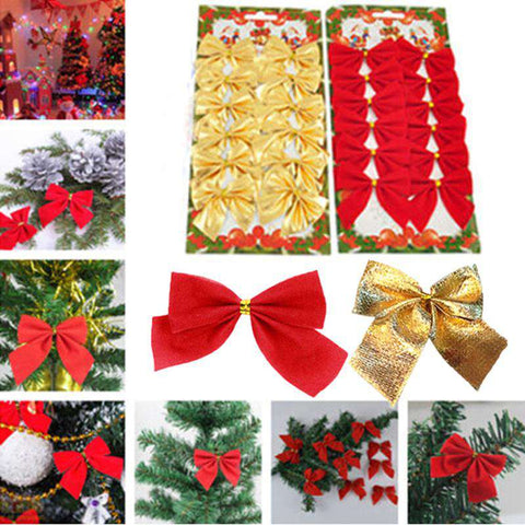 12pcs Red Bowknot Christmas Tree Decoration - Prography Gear