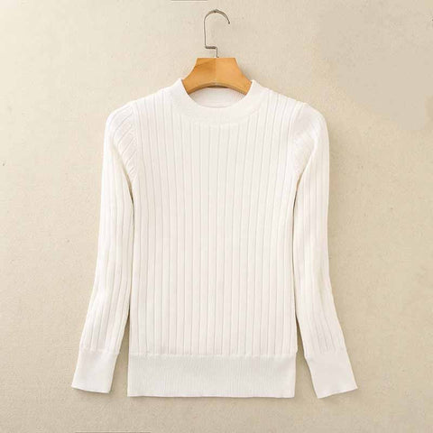 Image of Cozy Knitted Fleece Sweater