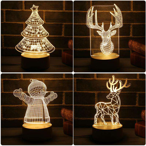 Christmas 3d Lamp 7 Color Changing - Prography Gear