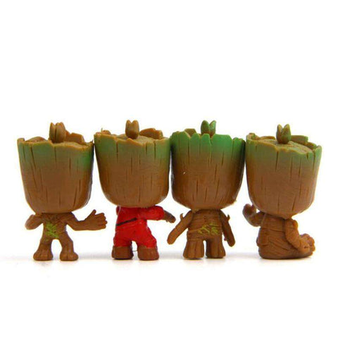 Cute Baby Groot 4 Pieces Mini Actions Figures - Royalty Trends