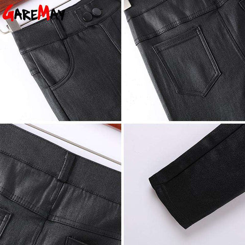 Innovative Warm Stretch Winter Leather Pants - Thick Velvet - Prography Gear