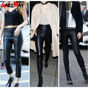 Innovative Warm Stretch Winter Leather Pants - Thick Velvet