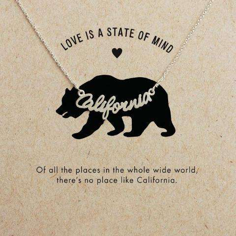 California Necklace With Card - Royalty Trends