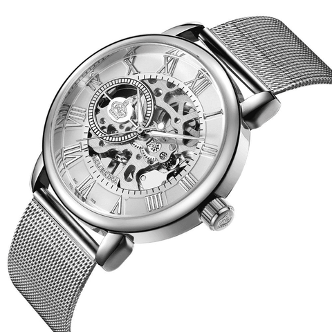 Image of Mechanical Royalty Skeleton Watch Stainless Steel Bracelet - Prography Gear