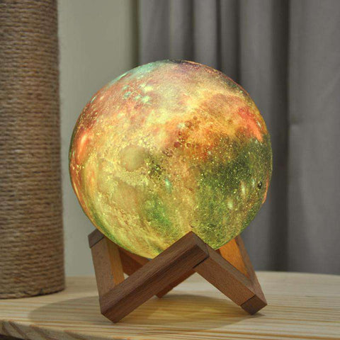 3D Printed Multicolor Moon Lamp - Royalty Trends